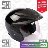 Honda ORI SNI Half Face Helm Helmet Half Face TRX 3 MURAH - HITAM