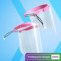 Face Shield Dental APD Premium Pelindung Wajah Muka Dewasa Anak PINK