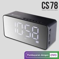Comson CS78 Speaker Portable Bluetooth dengan Alarm dan Jam Digital