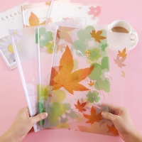 Clear Folder / Clear Map A4 Motif Flower Imut