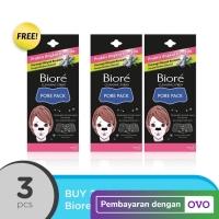 BUY 2 GET 1 FREE Biore Pore Pack Black 4S