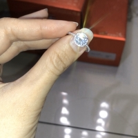 cincin berlian lab / moissanite 1carat cartier