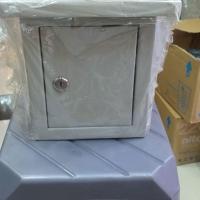 Box panel listrik outdoor (topi) ukuran 17x20x12, tebal plat 1mm