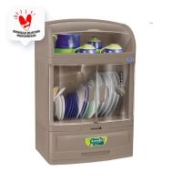 Rovega Rak Piring Pladys Premium Dish Cabinet DCB-300CDB