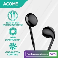 ACOME Headset Stereo Sound Microphone Semi In Ear Wired Earphone