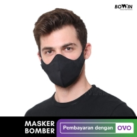 Bowin Masker Bomber - 2x Anti Bakteri & Percikan (Masker Kain 4ply)