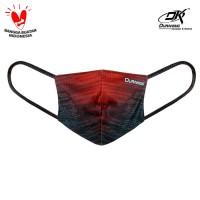 Masker Kain Anti Virus - MASKER RALLY STRIPES RED BLACK (1Pcs)