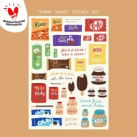 Moon Pancake Punny Snack Sticker