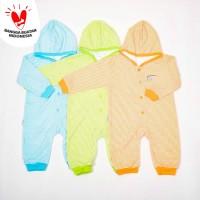 Jumper Panjang Rib topi-motif salur-Blessing babywear-sz all-size