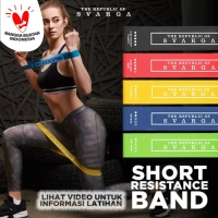 Short Resistance Band Svarga | Premium Latex | Karet Fitness & Gym