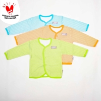 Baju Panjang bayi Salur-Blessing babywear--Size:S-M-L(isi set 3pcs)