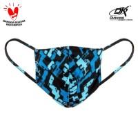 Masker Kain Anti Virus DK MASKER CAMOUFLAGE BLUE (1 Pcs)