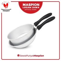 Maspion Set Nisuka Set Pot Silver 16 Cm + Frypan 20 Cm - Aluminium