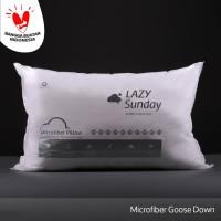 Bantal Microfiber Bulu Angsa Grade A - Medium to Firm - LAZY Sunday -