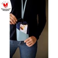 Tempat Hand Phone/ Tempat ID Card Warna Biru