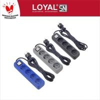 Stop Kontak + Kabel 3M OSAKA 4 Lubang (LY-208) SNI