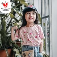 Kaos Anak - Anak Pink Bunny | L087 - Bunny Tee