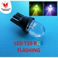 Lampu Led Sen Colok T10 7 warna RGB