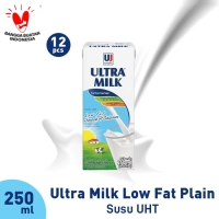 1/2 Carton Ultra Milk Low Fat Plain 250 ml