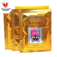 BPOM HANASUI Naturgo Lightening Peel Off Mask 10g BLACK MASKER Lumpur