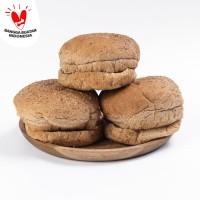 BURGREENS Whole Wheat Burger Bun 6pcs | Roti Frozen (Vegan Vegetarian)