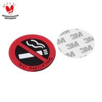 Sticker No Smoking Stiker Rokok Mobil Rumah Kantor
