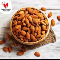 Roasted almond 500 gr asi booster / almond panggang
