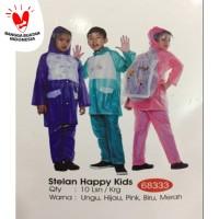Jas Hujan ANAK Stelan Happy Kids 68333 Tiger Head (ada backpack nya)
