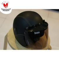 Helm Bogo FLAT - Helm Kulit Kaca Bogo Original (Bukan KW) - Hitam