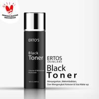 Ertos Black Toner Face Cleanser Refresher Moisturizer - Original BPOM