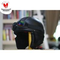 Helm Chip Bogo - Helm Kulit Kacamata Goggle Rainbow - Hitam