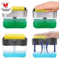 PUMP Dispenser HOLDER SPONGE Dispenser Sabun Spons Cuci Piring 2in1