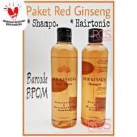 PAKET RED GINSENG SHAMPOO + HAIR TONIC BPOM ORIGINAL