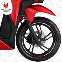 (Vario / Beat / Scoopy) Honda ORI Wheel List Sticker / Stiker Velg 14