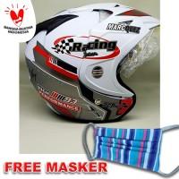 Helm helem helmet double visor marquez Repsol 93 putih