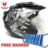 Helm 2 kaca (Double Visor) Murah Black doff Abu Duke BXP VS KYT - Merah
