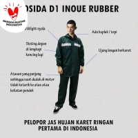 Jas hujan Rosida D1 karet 100% waterproof | japan product