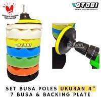 "Sponge Polishing 4"" inch 8pcs / Busa Poles Mobil & Motor Set Pad"