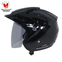 Cargloss CX Helm Half Face - Deep Black