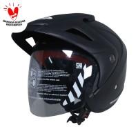 Cargloss CX Helm Half Face - Deep Black SG Doff