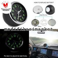 JAM ANALOG INTERIOR QUARTZ CAR CLASSIC CLOCK INDIKATOR WAKTU DASHBOARD