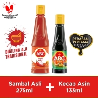Bundling ABC Sambal Asli 275ml & Kecap Asin 133ml