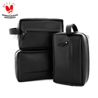 Handbag Pria - Leather Series (Black)