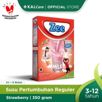 Zee Reguler Strawberry Milk 350 G