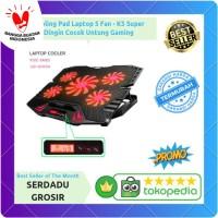 Kipas Pendingin Cooling Pad Laptop 5 Fan - K5 Cocok Untung Gaming