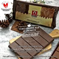 Cokelat Tulip Dark Chocolate Compound Coklat Batang 200 gr Repack