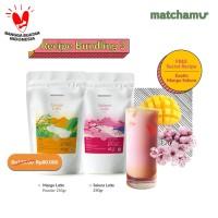 Matchamu Recipe Bundling Package 3 : Mango Latte + Sakura Latte 250gr