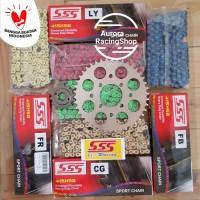 Gear Set SSS New R15 V3 & Rantai SSS 415 HSB Colour Series