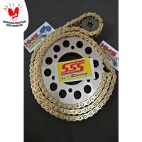 Gir Set SSS Cb150R, Verza Rantai Gold 428 130L