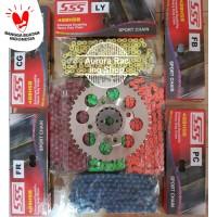 Gear Set SSS 428 New CB 150R / CBR 150 / Sonic 150 & Rantai SSS HSB